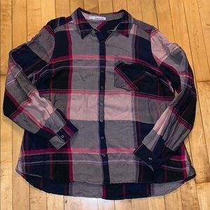 Maurices Plaid Blouse